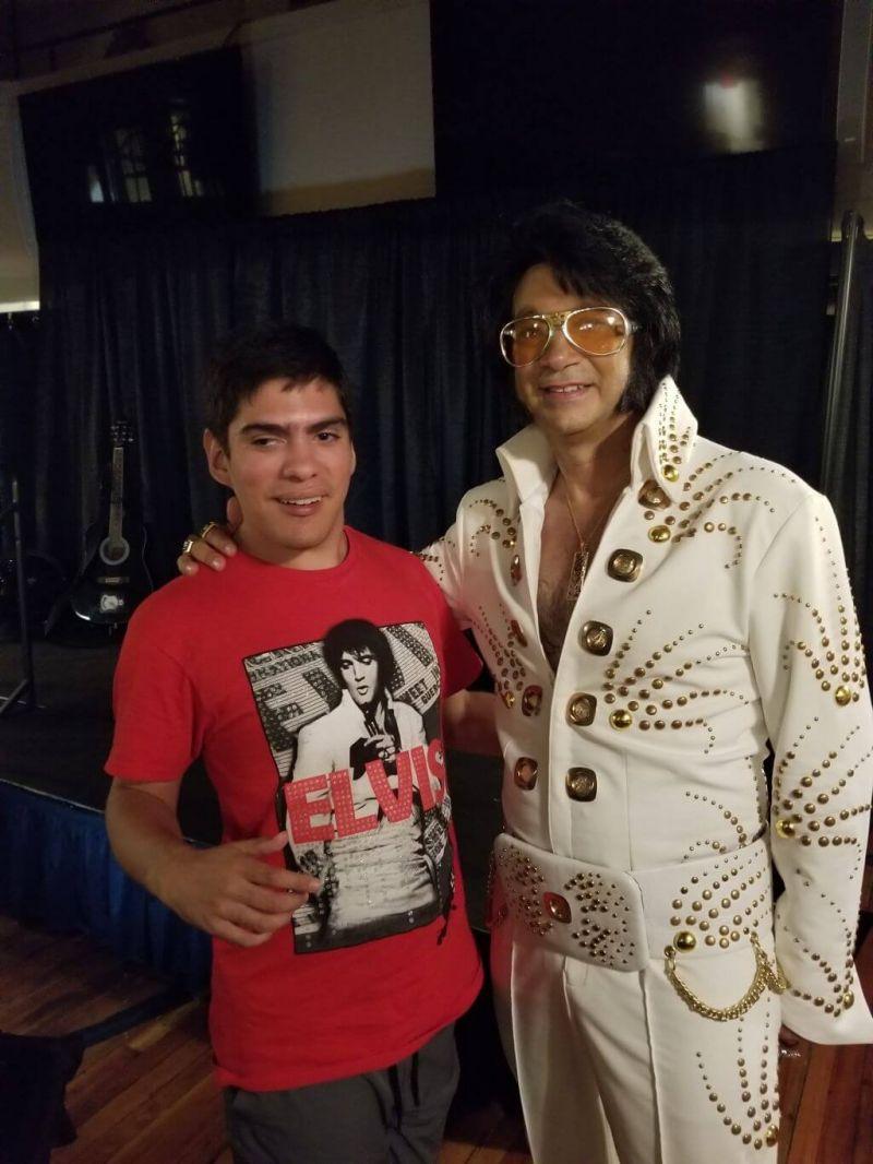 Austin And Elvis After A Concert