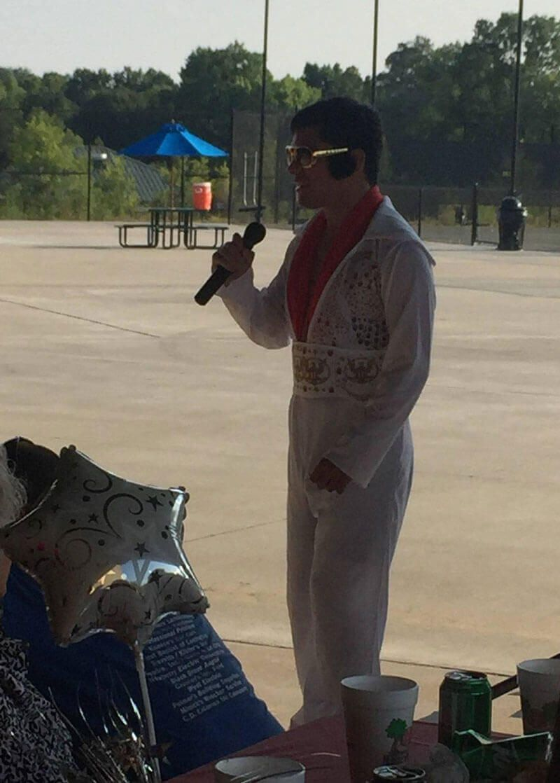Elvis Makes An Appearance At Grad Party