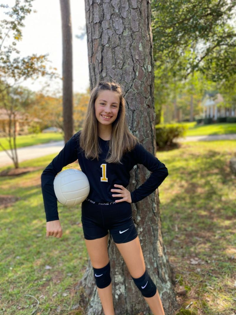 Evelyn, our star volleyball player