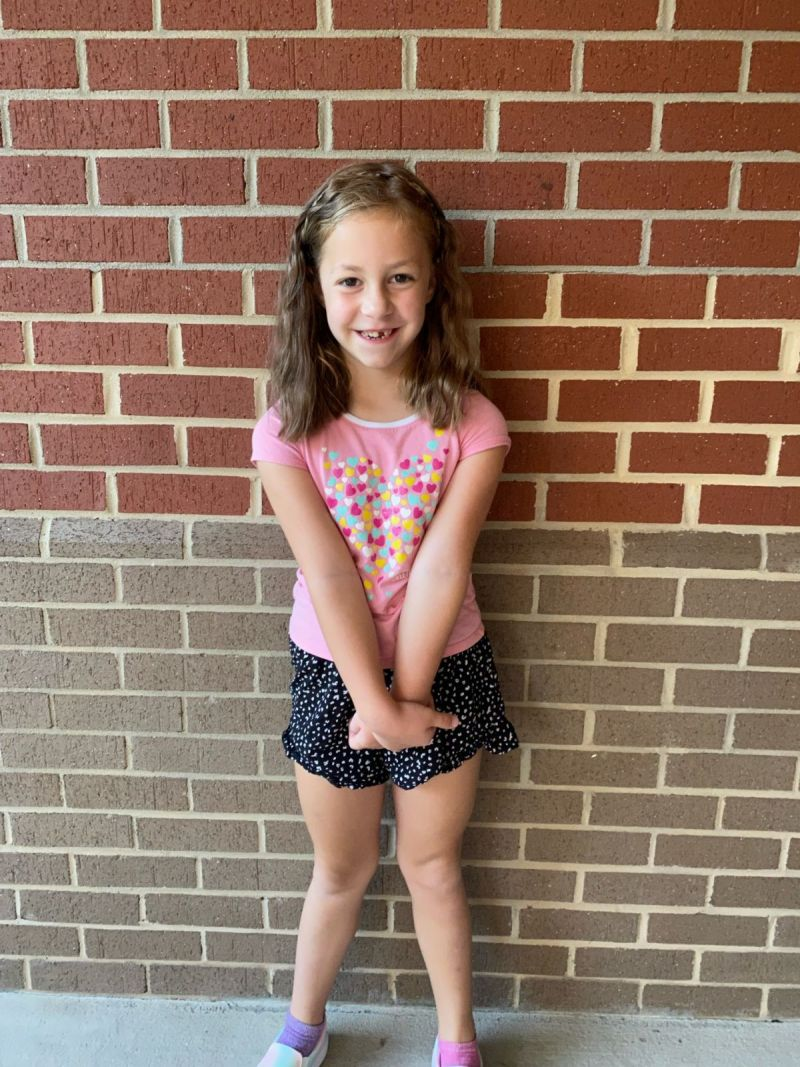 Lillian's first day of 1st grade