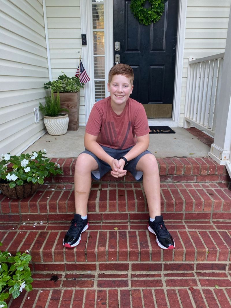 Anthony's first day of 7th grade