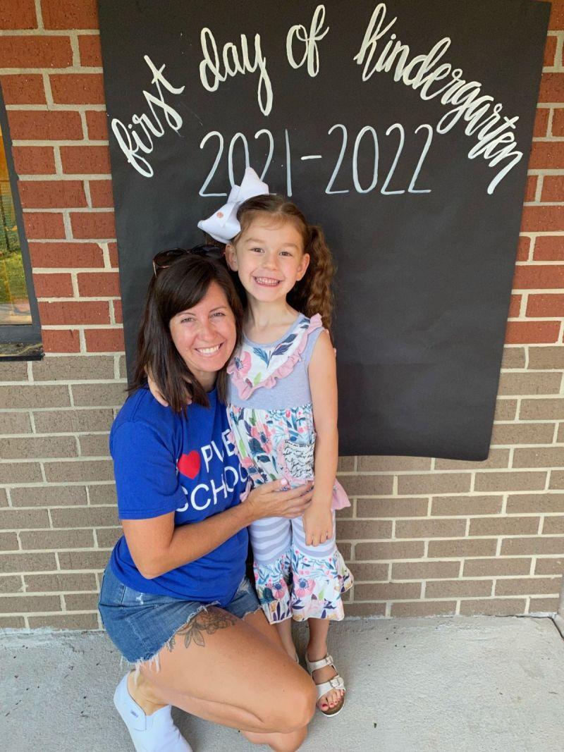 Charlotte's first day of Kindergarten