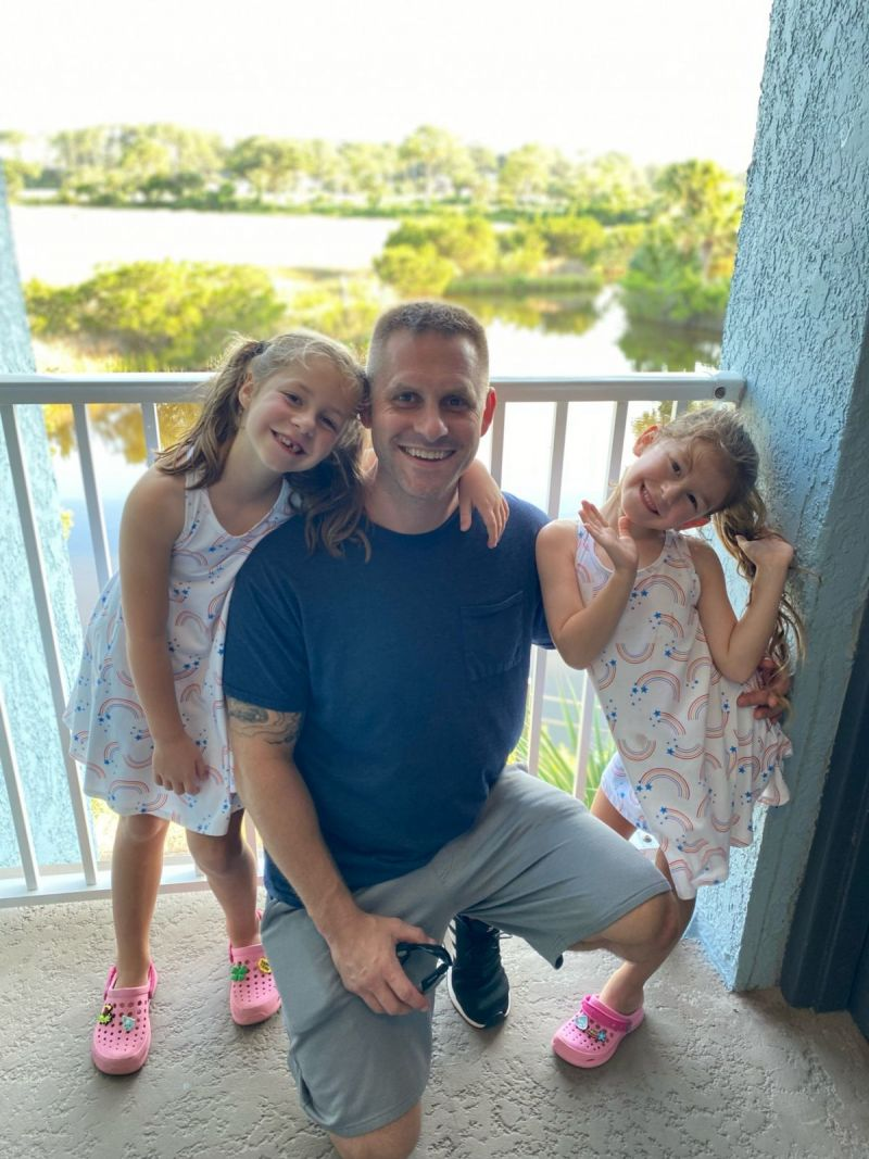 Dad and his little girls